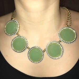 Banana Republic Mint green stone necklace